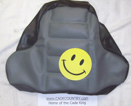Seat Cover - Passenger LX/GT Black and Gray
