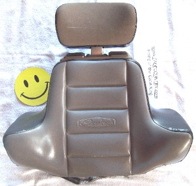 Passenger Seat Back, Backrest - LXE, Black/Gray